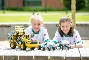 Building the future of engineers in Ireland with LEGO® SL Controls, one of Ireland's leading Equipment Systems Engineering firms launched a new programme called 'ECubers™' at University of Limerick to encourage more students, particularly young women, to study and pursue careers in engineering. The programme aims to help foster the technical skills required for a career in engineering – using all-round favourite our picture shows Ella Bohannon & Isabella Crowley Fifth Class students at Knockanean NS from Ennis Co. Clare Picture Credit Brian Gavin Press 22